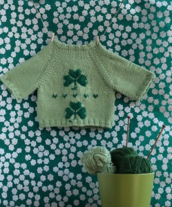 free baby cardigan knitting pattern for st. patrick's day