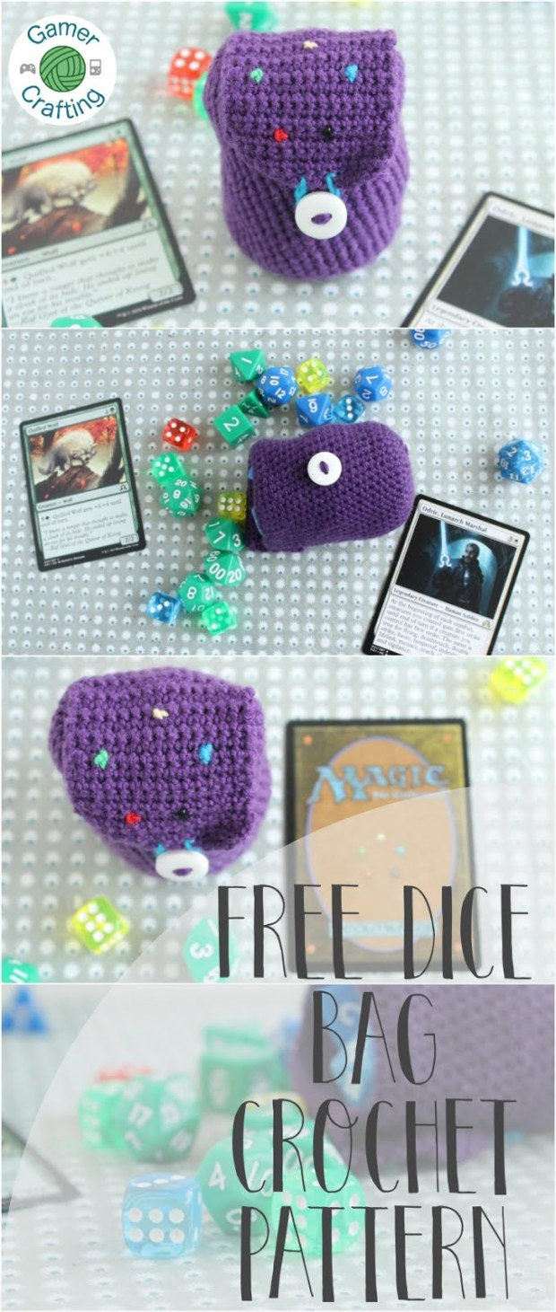 Free dice bag crochet pattern