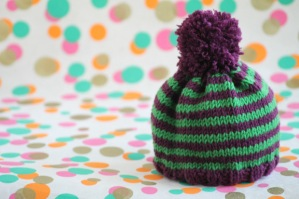 Free baby hat knitting pattern by GamerCrafting