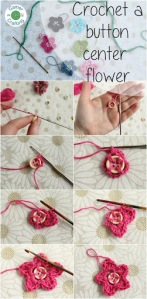 Button center flower tutorial on GamerCrafting