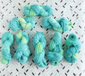 Hand dyed cotton yarns by GamerCrafting