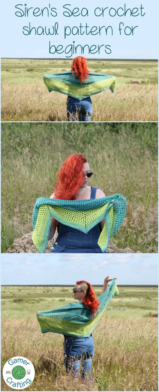 Ombre crochet shawl pattern for beginners