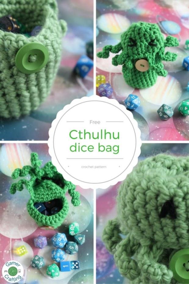 Free Cthulhu Dice Bag Crochet Pattern Gamercrafting Yarns